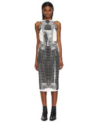 Dion Lee - Black Bonded Technical Jersey Croc Thermal Backless Dress - Lyst
