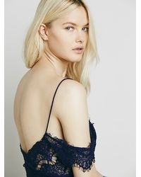 Free People | Purple Off The Shoulder Peekaboo Bodycon | Lyst