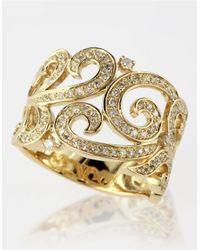 Effy | Metallic Diamond And 14k Yellow Gold Scroll Ring | Lyst