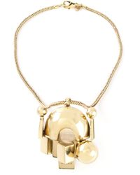 KTZ | Metallic Abstract Pendant Necklace | Lyst