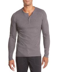 Gramicci - Gray 'jak Mojave' Thermal Henley for Men - Lyst