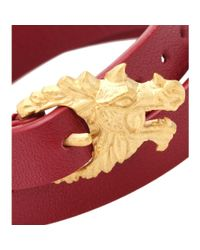 Valentino | Red Dragon Leather Wrap Bracelet | Lyst