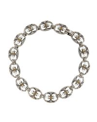 Konstantino | Metallic Double-pearl Link Necklace | Lyst