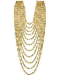 Rosantica | Metallic Agrippina Gold Dipped Necklace | Lyst