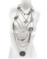 Maria Zureta | Metallic Mish Mash Silver Necklace | Lyst