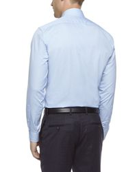 Jaeger | Blue Gingham Modern Non-iron Shirt for Men | Lyst