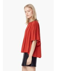 Mango - Red Flowy Blouse - Lyst
