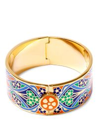 Liberty | Orange Ianthe Multicolour Thick Cuff | Lyst