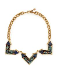 Lulu Frost | Multicolor 'petra' Mosaic Arrow Statement Necklace | Lyst