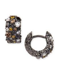 Paul Morelli - Small Multicolor Diamond Confetti Hoop Earrings - Lyst