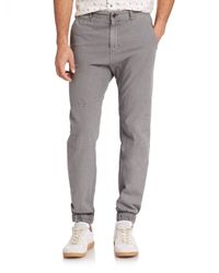 Madison Supply - Gray Woven Linen/cotton Jogger Pants for Men - Lyst