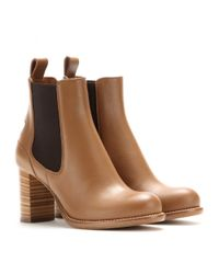 Chloé - Brown Bernie Leather Chelsea Boots - Lyst