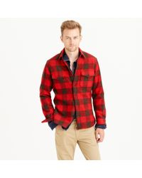 J.Crew | Red Slim Buffalo Check Cpo Shirt-jacket for Men | Lyst