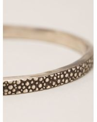 Henson | Metallic Thin Embossed Bangle | Lyst