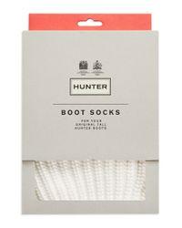 Hunter | White Half-cardigan Boot Socks | Lyst