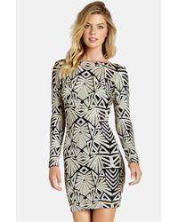 Dress the Population | Black 'lola' Sequin Body-con Dress | Lyst