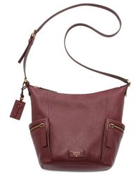 Fossil | Purple Emerson Leather Hobo | Lyst
