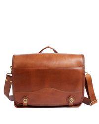 Brooks Brothers | Brown J.w. Hulme Leather Envoy Messenger Bag for Men | Lyst