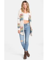 Billabong | Multicolor 'outside Lines' Stripe Cardigan | Lyst