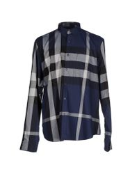 Burberry Brit   Blue Fred Exploded Check Button-Down Cotton Shirt for Men   Lyst