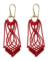 Toast | Red Helena Rohner Macrame Earrings | Lyst