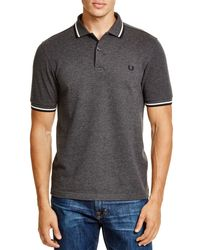 Fred Perry | Gray Tipped Slim Fit Polo for Men | Lyst