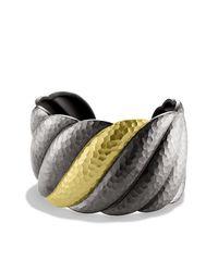 David Yurman | Metallic Sculpted Cable Cuff | Lyst