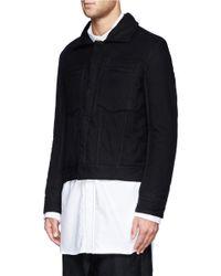 Ann Demeulemeester - Black Padded Cotton Jacket for Men - Lyst
