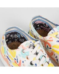 Paul Smith - Women'S White Palette Floral Print 'Balfour' Trainers - Lyst