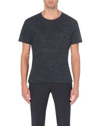 Sandro | Multicolor Crew-neck Linen T-shirt for Men | Lyst