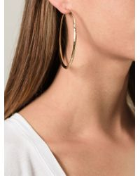 Aurelie Bidermann | Metallic 'apache' Hoop Earrings | Lyst