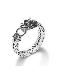 John Hardy - Black Legends Naga Dragon Head Bracelet - Lyst