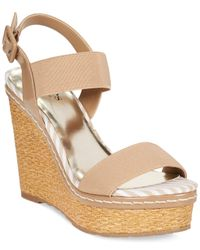 Charles by Charles David - Brown Tapia Platform Wedge Sandals - Lyst