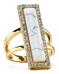 House of Harlow 1960 - Metallic 1960 Illuminating Rectangle Ring - Lyst
