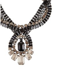 BCBGMAXAZRIA | Metallic Twisted Stone Statement Necklace | Lyst