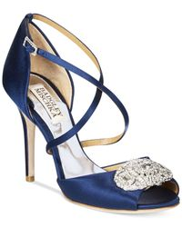 Badgley Mischka | Blue Sari Evening Sandals | Lyst
