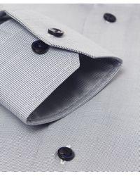 Eton of Sweden | Blue Slim Fit Contrast Button Shirt for Men | Lyst