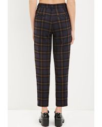 Forever 21 - Blue Tartan Plaid Trousers - Lyst