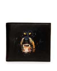 Givenchy - Black Rottweiler Nylon Bi-Fold Card Case - Lyst
