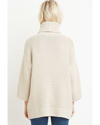 Forever 21 | Natural Textured Turtleneck Sweater | Lyst
