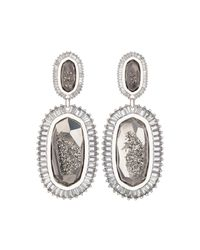 Kendra Scott | Gray Kaki Druzy Baguette Earrings | Lyst