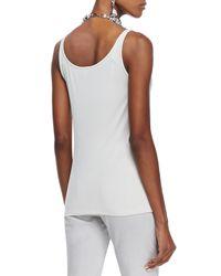 Eileen Fisher - Natural Silk Jersey Long Slim Camisole - Lyst