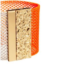 Ashiana - Neon Orange and Gold Cuff Bracelet - Lyst
