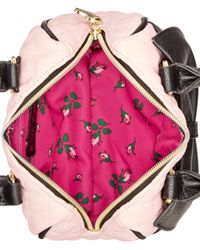 Betsey Johnson | Pink Mini Bow Quilted Satchel | Lyst