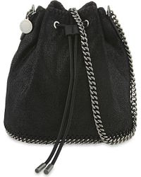 Stella McCartney | Black Drawstring Bucket Bag | Lyst