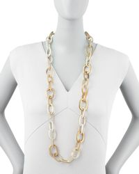 Ashley Pittman | White Light Horn Link Mara Necklace | Lyst