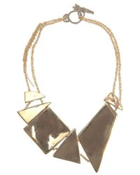 Arielle De Pinto | Metallic Decollete Shard Necklace | Lyst