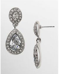 Carolee | Metallic Pave Stone Drop Earrings | Lyst