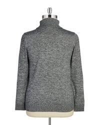 Calvin Klein | Black Plus Heathered Knit Turtleneck | Lyst