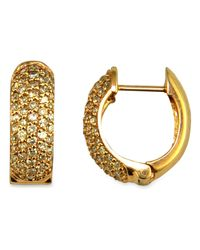 Effy Collection - Metallic Trio By Effy Pave Diamond Earrings In 14k Yellow, Rose, Or White Gold (1/2 Ct. T.w.) - Lyst